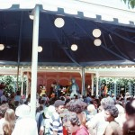 This Fantasyland stage is approximately where Belle's house stands now in New Fantasyland