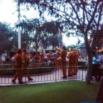 The Main Street Marching Band plays at the Flag Retreat