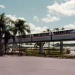 The old monorails had no standing, bench seating only