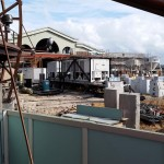 The power generators for Planet Hollywood and entrance to Town Center