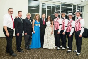 The Walt Disney Family Museum Fundraising Gala and Diane Disney Miller Lifetime Achievement Award  Don Hahn, Tony Anselmo, Bill Farmer, Jodi Benson, Richard Sherman, Julianna Hansen, the Dapper Dans of Disneyland.  Photo by Drew Altizer Photography, courtesy of The Walt Disney Family Museum.