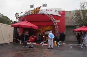 Lightning McQueen and Tow Mater meet and greet
