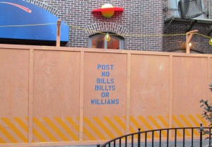At least they're creative with the construction walls