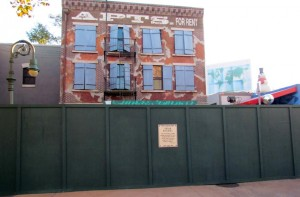 Walls now hide the former Phineas & Ferb meet and greet