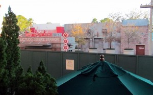 Walls also obscure the Cars photo-op and the Premiere Theater