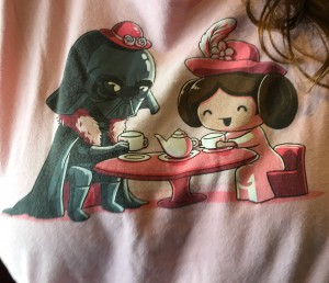 Tea party with daddy Vader
