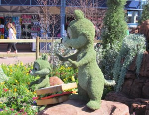 Chip n' Dale topiary