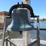 Outside the deck has this huge bell. Go ahead and ring it