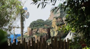 Scaffolding has come down from some of the cliffs