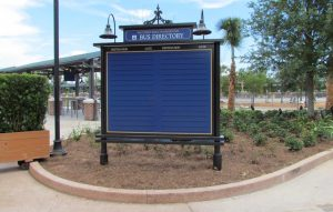 Two big boards for finding your resort