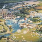 Concept Art overview of Disney's America theme park