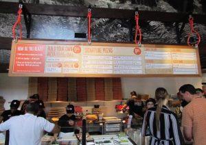 nice big menu, but paper menus also available