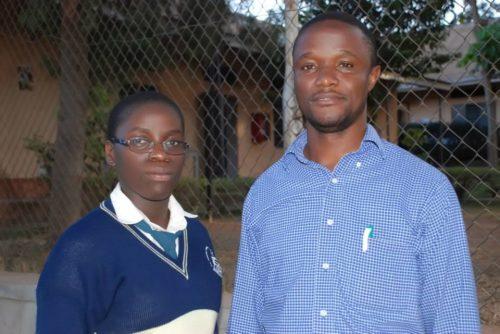 Phiona Mutesi and her coach Robert Katende