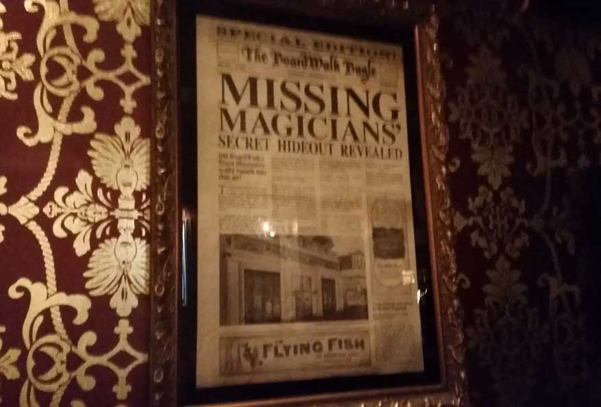 This newspaper details the lounge's backstory