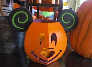 They fit inside this stylized Mickey Pumpkin