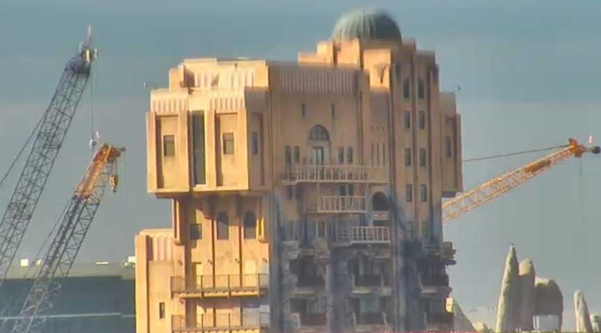 Tower of Terror sign removed