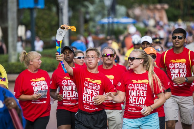 Disney World recently hosted the Special Olympics torch run