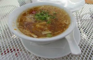 Hot and Sour soup, flavors were gentle to go with the brunch feel. Not to extremely sour or hot