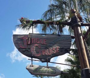 Jingle Cruise sign is up
