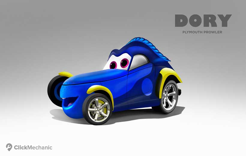 Cars 3 Characters Names >> 5-Dory_Plymouth-Prowler | The Disney Blog