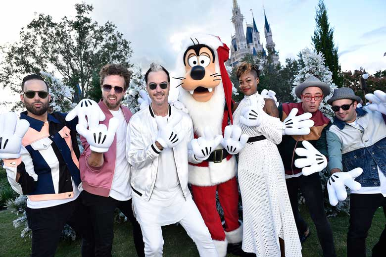 Fitz and the Tantrums with Santa Goofy