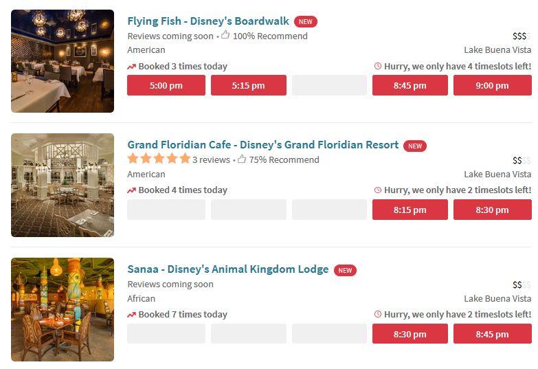 Disney World Restaurants Join OpenTable Reservation System The - Open table reservation system