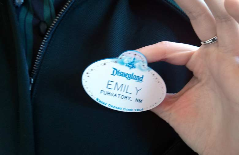 Disneyland cast member name badge