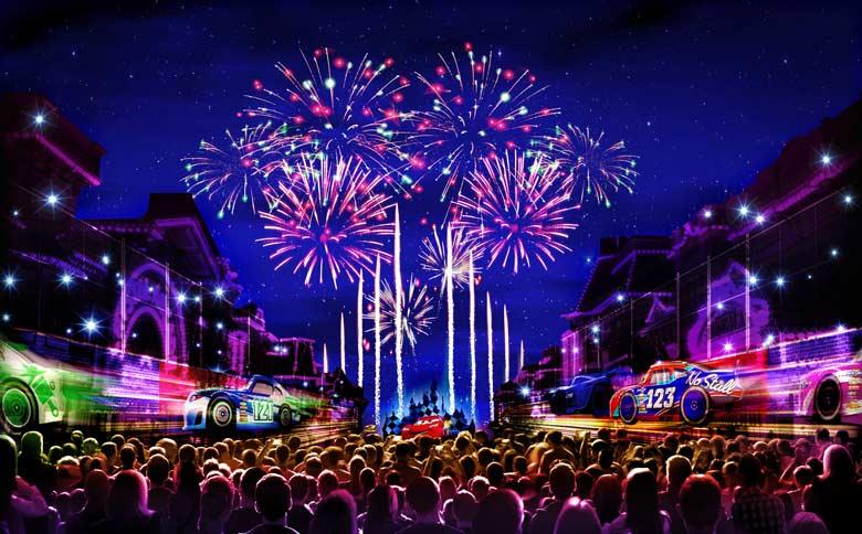 Concept art for Disneyland Fireworks