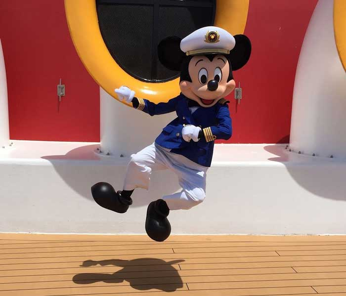 Captain Mickey Mouse on Disney Cruise Line