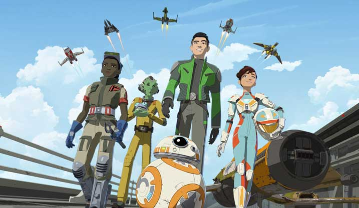 meet the ace pilots of star wars resistance on disney channel the