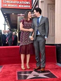 Lin-Manuel Miranda and Vanessa Nadel