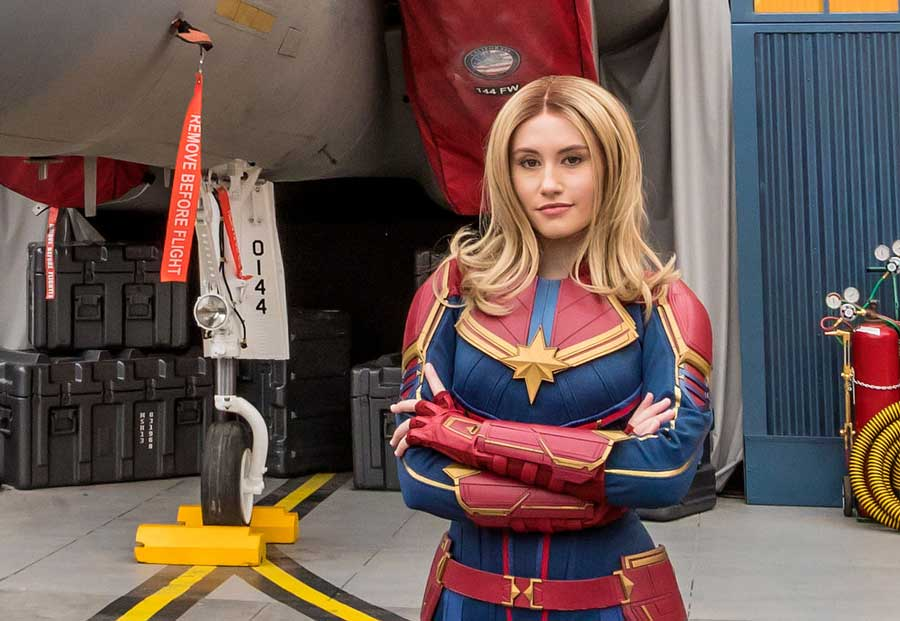Image result for captain marvel disneyland