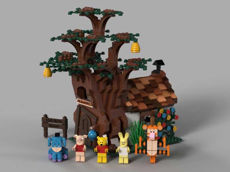 Ben Alder's original Winnie the Pooh lego project