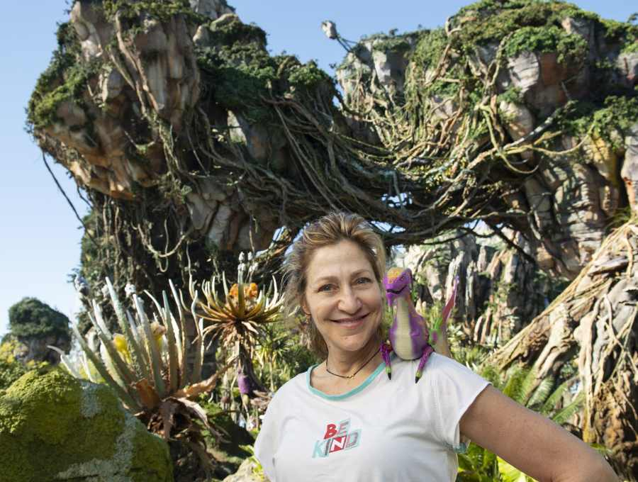 Actress Edie Falco poses with the new Night Blossom banshee