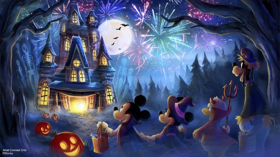 Halloween Fireworks Concept Art