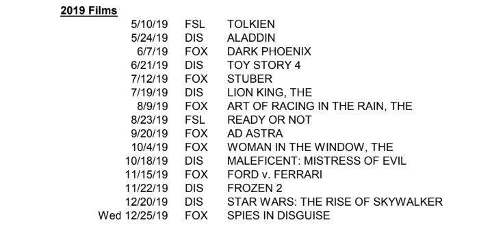 Disneyland Calendar 2020.Disney Shuffles Its Movie Release Calendar In Wake Of Fox