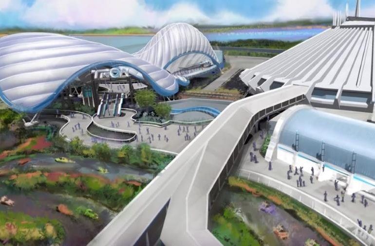 TRON Coaster Concept Art - Tomorrowland