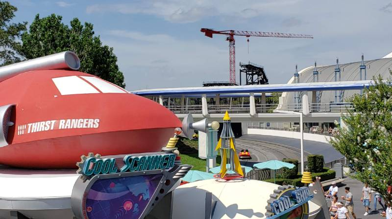 TRON-themed roller coaster construction update from Magic Kingdom | The Disney Blog