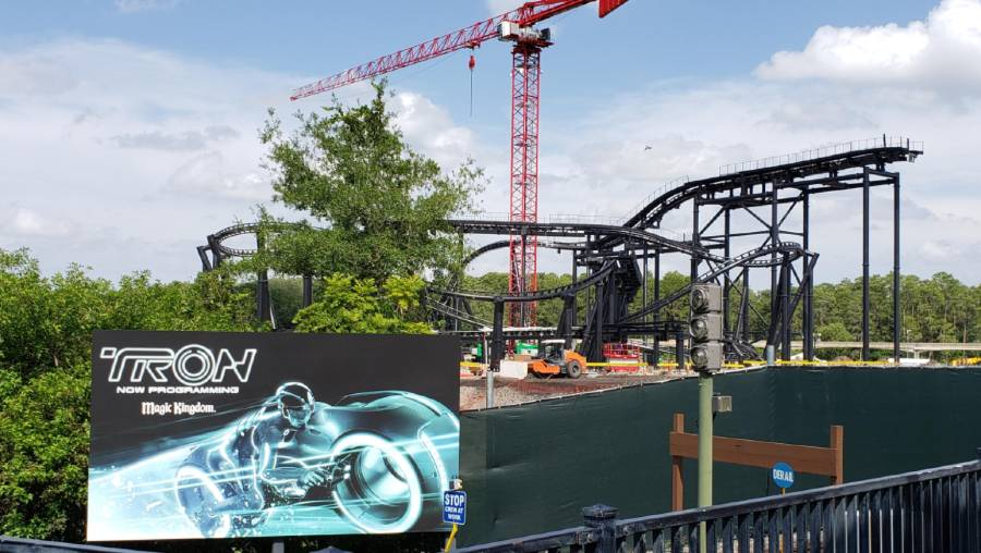 Tron Themed Roller Coaster Construction Update From Magic