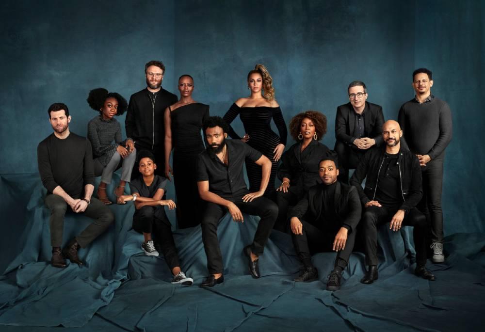 Voice Cast Assembles For Disneys The Lion King Portrait