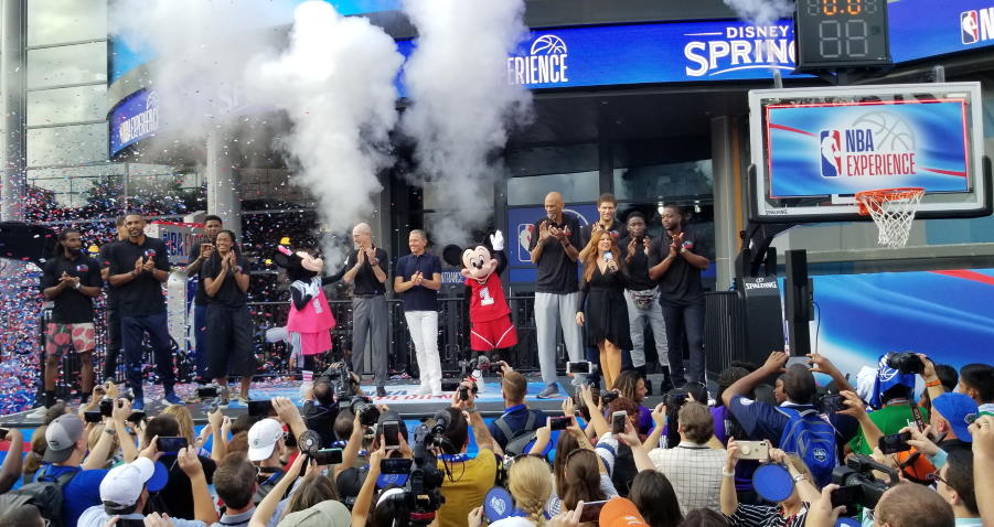 nba experience grand opening ceremony