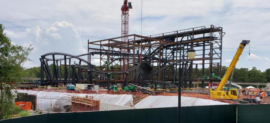 TRON Coaster Arises at Magic Kingdom - August 2019 Update   The Disney Blog