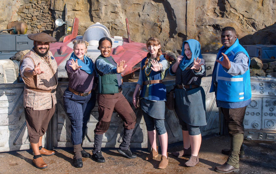 Star Wars Galaxy's Edge cast members in costume