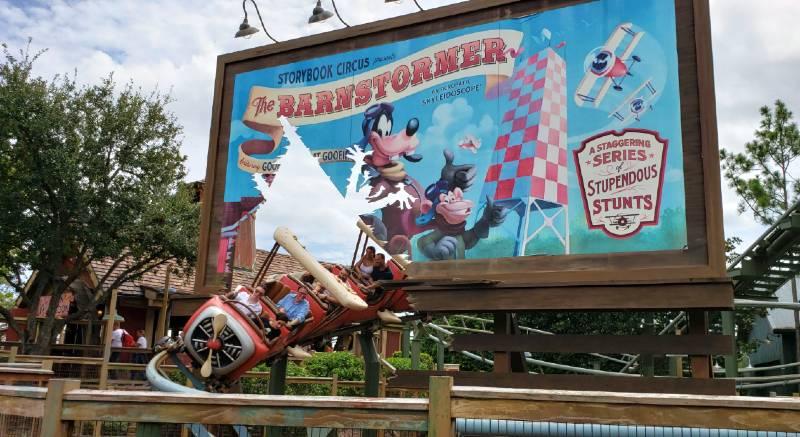 Goofy Barmstormer Roller Coaster