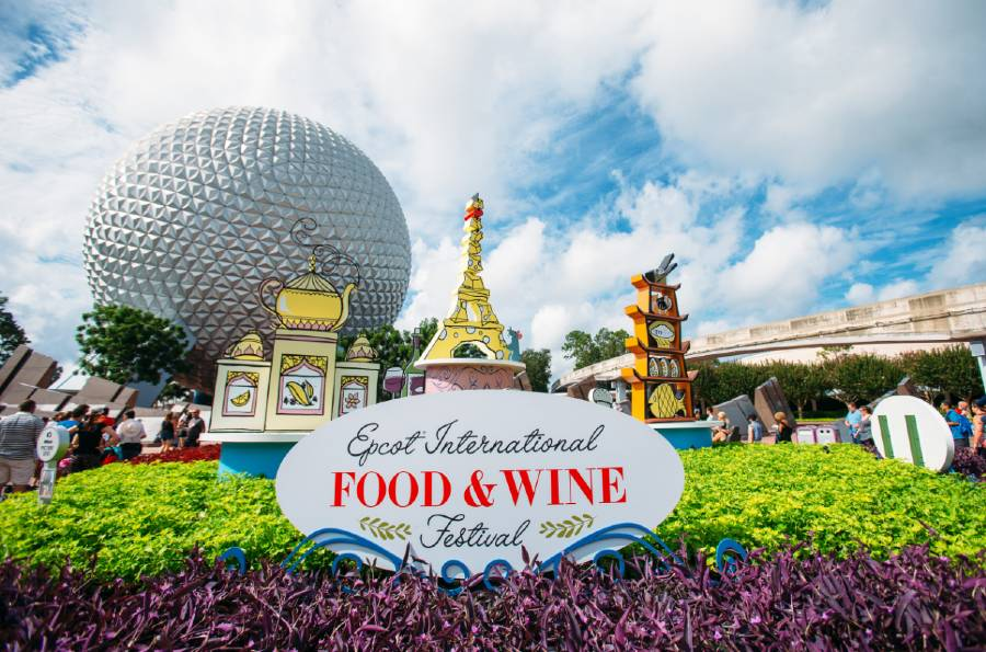 2019 Food and Wine Festival sign