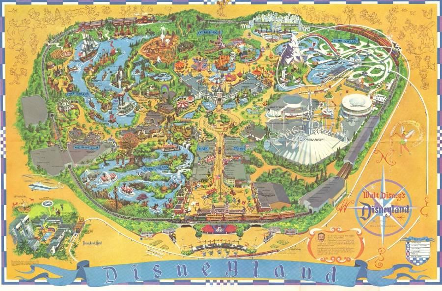Fan recreates 1968 Disneyland Map in free download | The Disney Blog