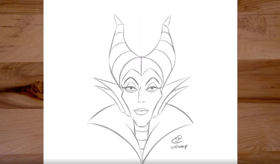 How to Draw Maleficent from Disney's Sleeping Beauty | The Disney Blog