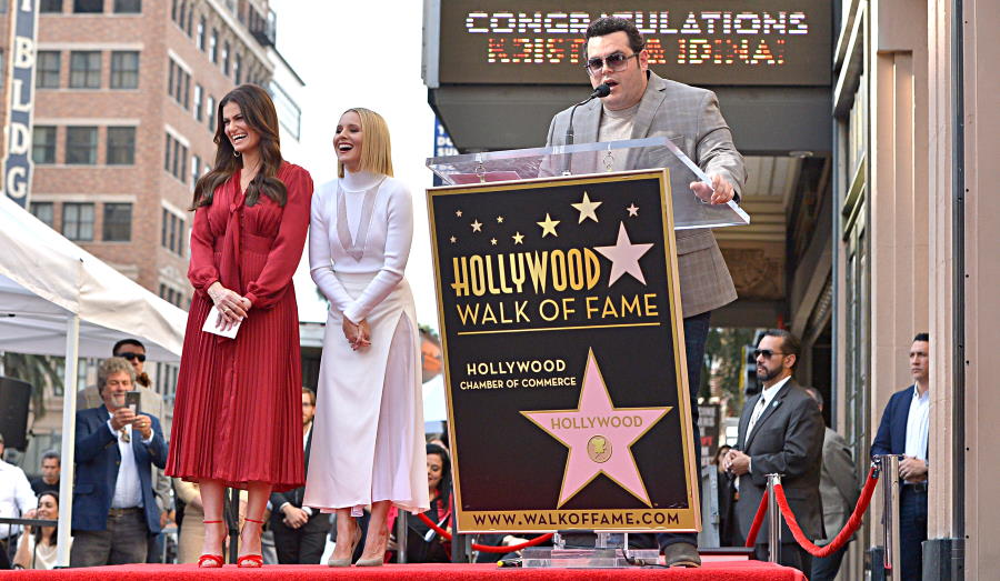 Josh Gad attends the double Walk of Fame ceremony in Hollywood, Calif., where Kristen Bell and Idina Menzel from Disney's FROZEN 2 were each presented with a star on the Hollywood Walk of Fame