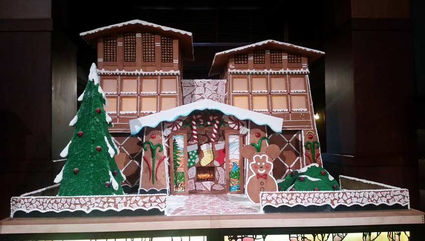 Grand Californian Gingerbread House