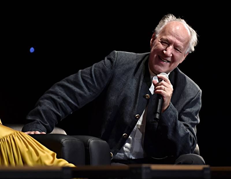 Werner Herzog speaks onstage